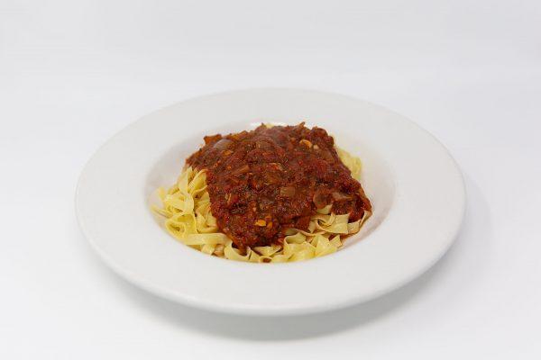 Fin & Fern pasta with marinara sauce